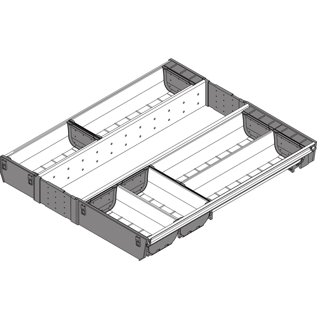 Blum Orga Line Container Set For Tandembox Drawer 900 Mm